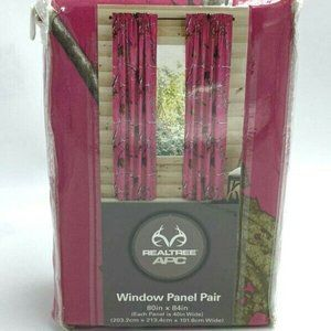 Realtree APC Hot Pink Window Panel Pair Curtains